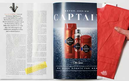 Old Spice Scented Paper Blazer Makes Readers of GQ Dapper