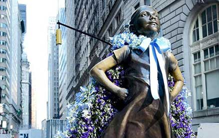 Old Navy Flower Empowers Female Historical Statues For International Women's Day
