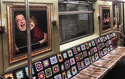 ABC Turns a New York Subway Train Into Roseanne's Iconic TV Living Room, Afghan Included