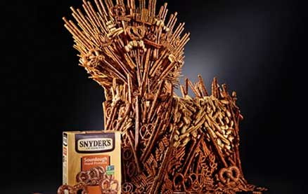 This 4-Foot Iron Throne is Made of More Than 1,000 Pretzels