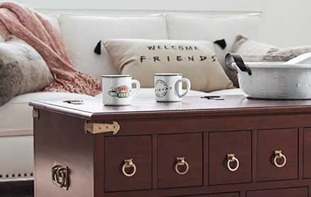 "Pottery Barn is Releasing a ""Friends"" Collection (Including Rachel's Apothecary Table)"