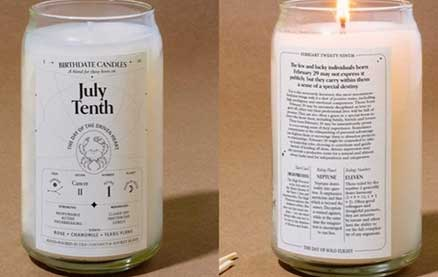 Birthdate Candles Have Specific Scents Based on Every Birthday in the Calendar