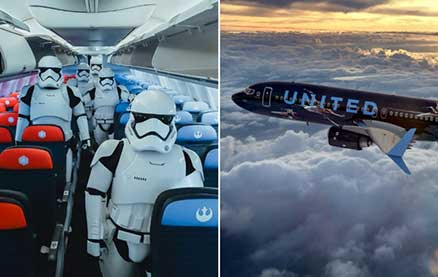 You Can Now Book a Flight on United's New Star Wars-Themed Boeing 737 Plane — Here's What It's Like Inside